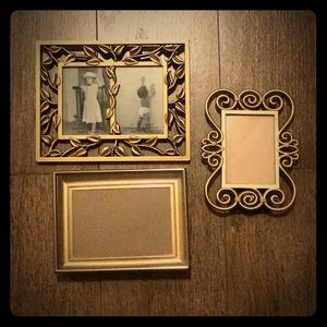 Gently used gold frames
